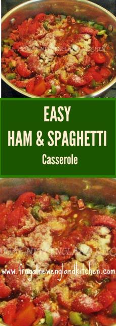 Skillet Ham and Spaghetti Casserole