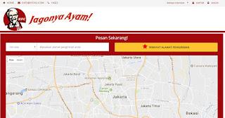 Cara Pemesanan Online Ayam KFC