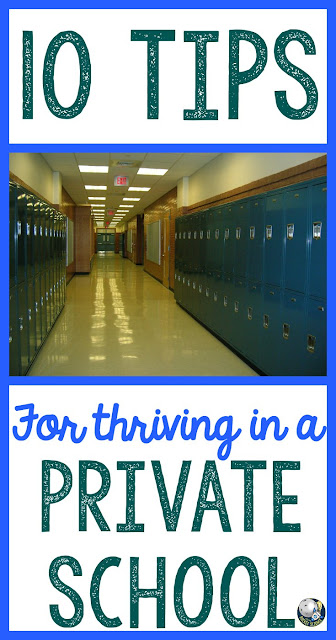Being a teacher has many challenges, but being a private school teacher has its own difficulties.  Here are 10 tips and strategies for not only surviving but thriving in a private school!