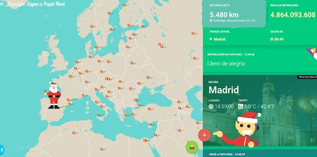 Santa por Google en España