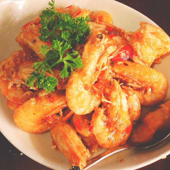 Buttered shrimps from the Visayas