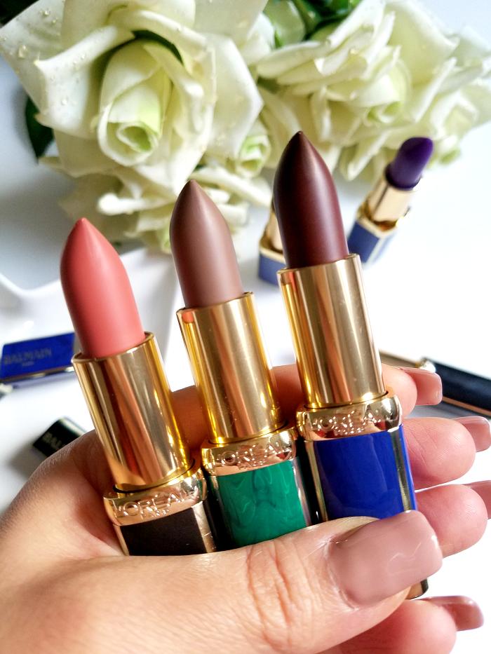L´Oréal Paris X Balmain Couture Lipstick Collection - 246 Confession - 648 Glamazone - 650 Power Madame Keke