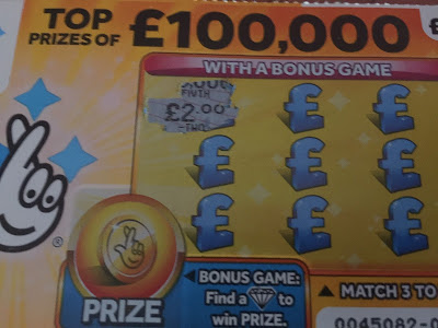 £1 £100,000 Yellow Scratch Card
