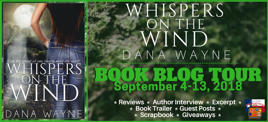 Whispers in the Wind book blog tour promotion banner