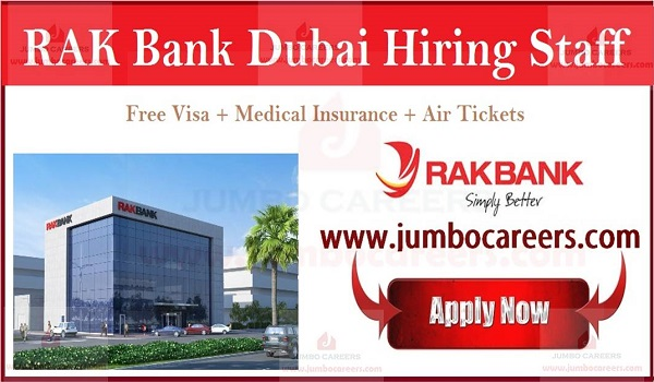 RAK Bank Walk in Interview 2019 For Sales Banking Professionals,