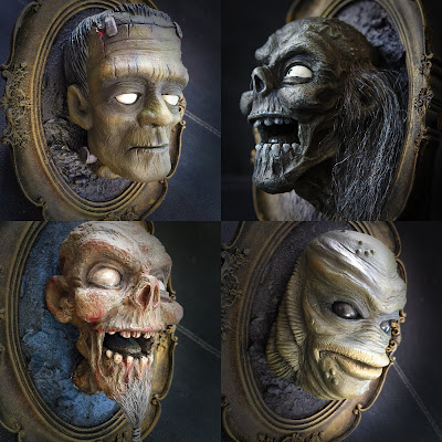 Horror Hanger Resin Wall Sculptures by UME Toys