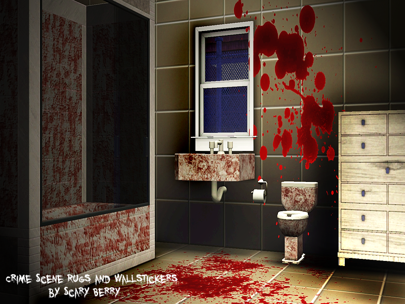 My Sims 3 Blog Crime Scene Blood Rugs Amp Wallstickers By