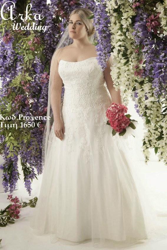 f2f554d62fa1 ΝΥΦΙΚΑ ARKAWEDDING  Νυφικό Για παχουλή νύφη Κωδ Provence κεντημένo ...