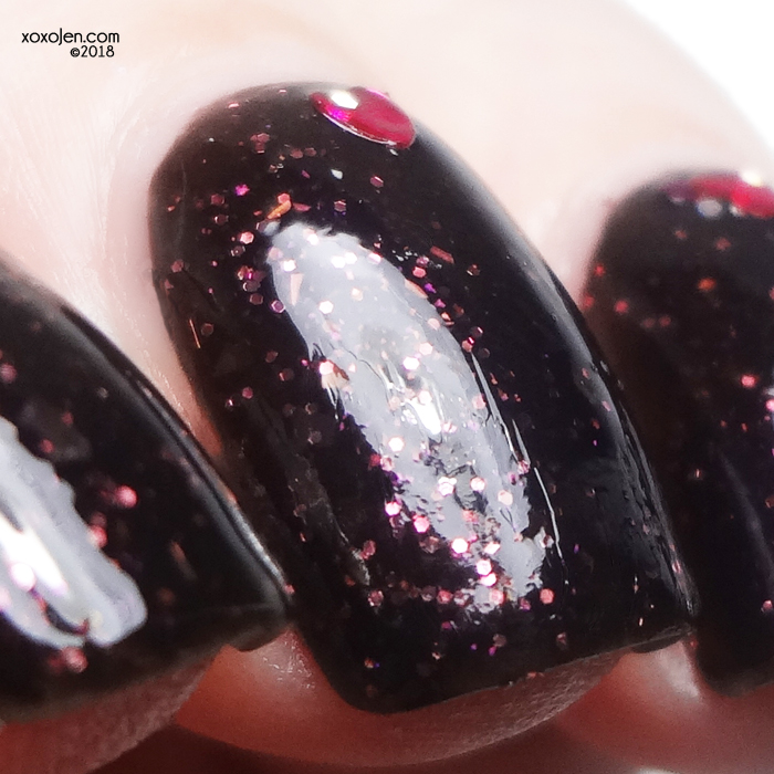 xoxoJen's swatch of Literary Lacquers The Man in Black