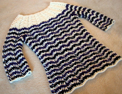 The Vintage Pattern Files: Free 1950's Style Crochet Pattern- Chevron Stripes 3-Season Sweater