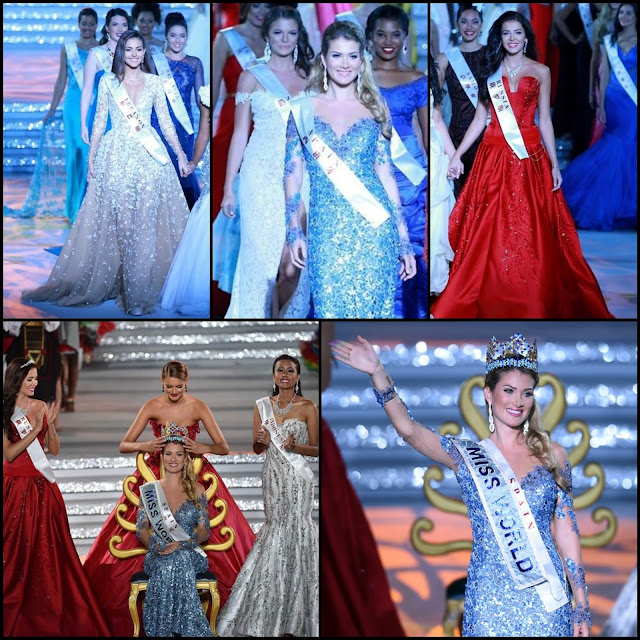SASHES AND TIARAS.....MISS WORLD 2015 Finals EVENING GOWN Recap!