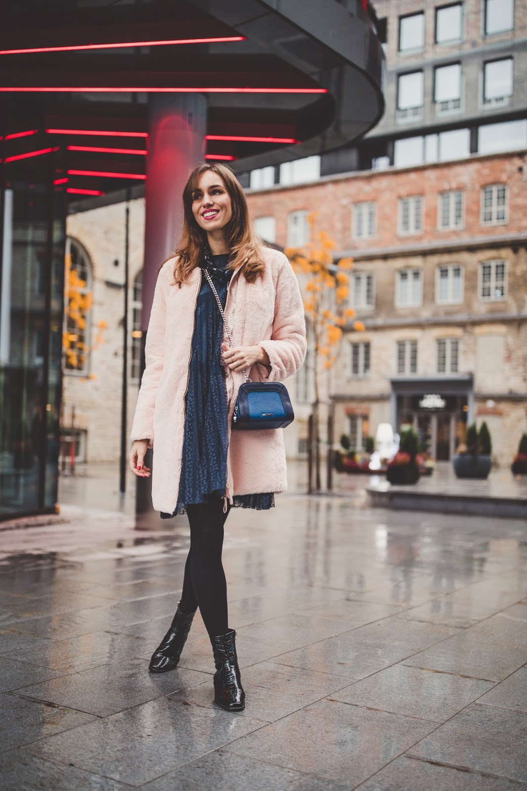 holiday look fluffy coat tulle dress