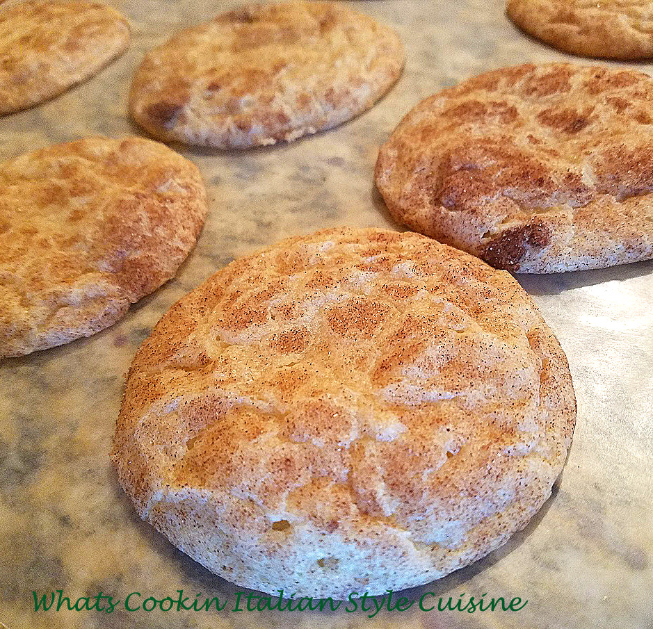 this is a cinnamon cookie called snickerdoodle cookies. A childhood favorite cinnamon and sugar cookie. Easy to make and pantry ingredients. Cinnamon and sugar cookies or snickerdoodles are a famous cookie known worldwide