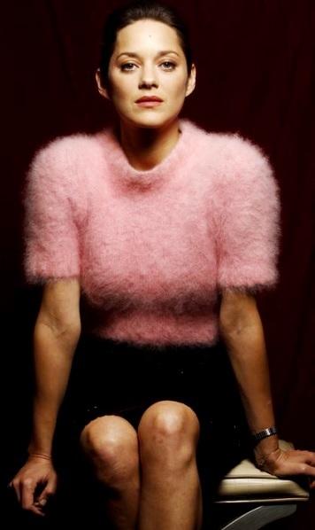 Foto de Marion Cotillard con el cabello recogido
