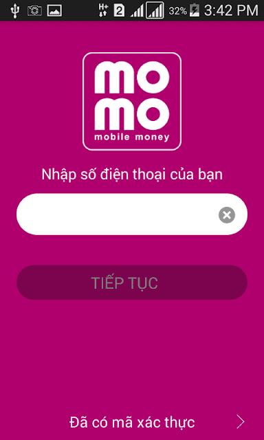 đăng ký tài khoản momo