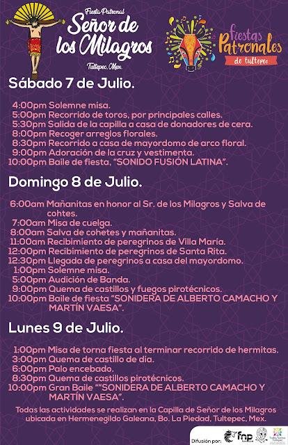 fiesta patronal Tultepec 2018