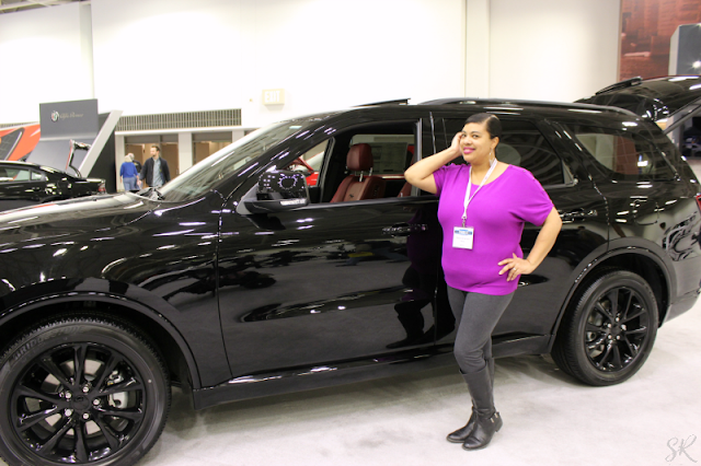 Black Dodge Durango at the Twin Cities Auto Show