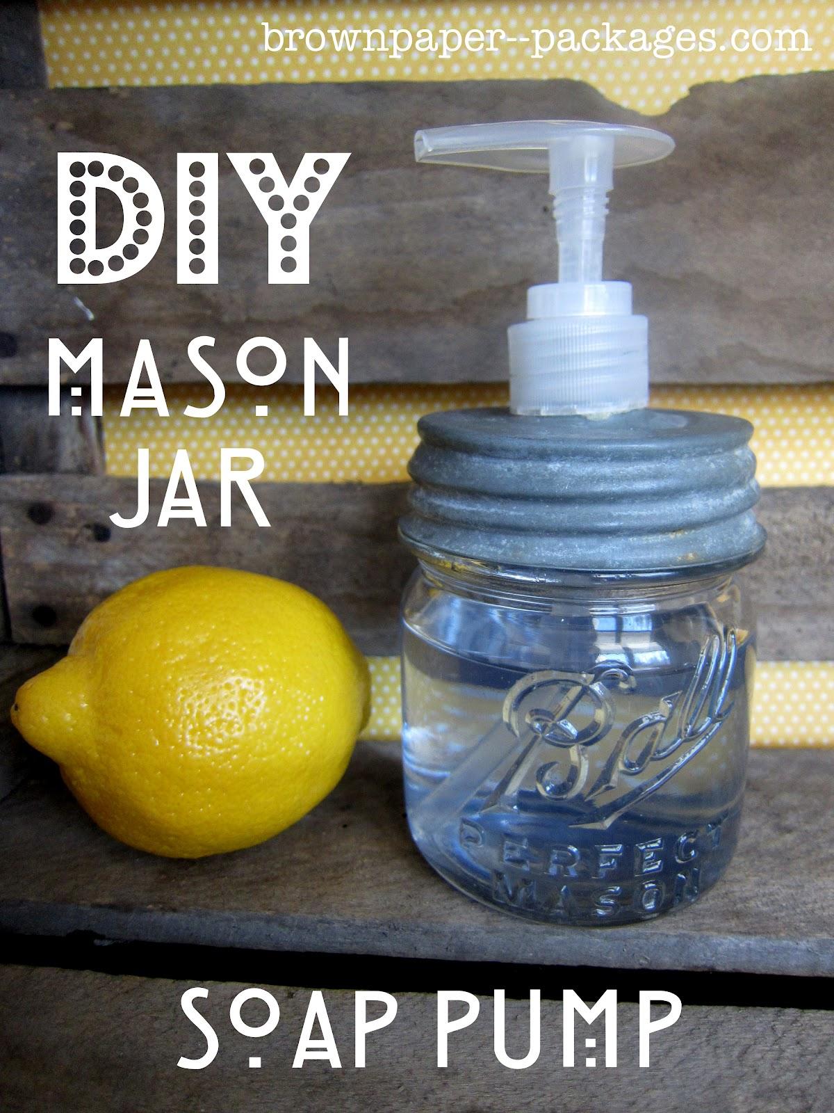 Diy mason jar soap pump.