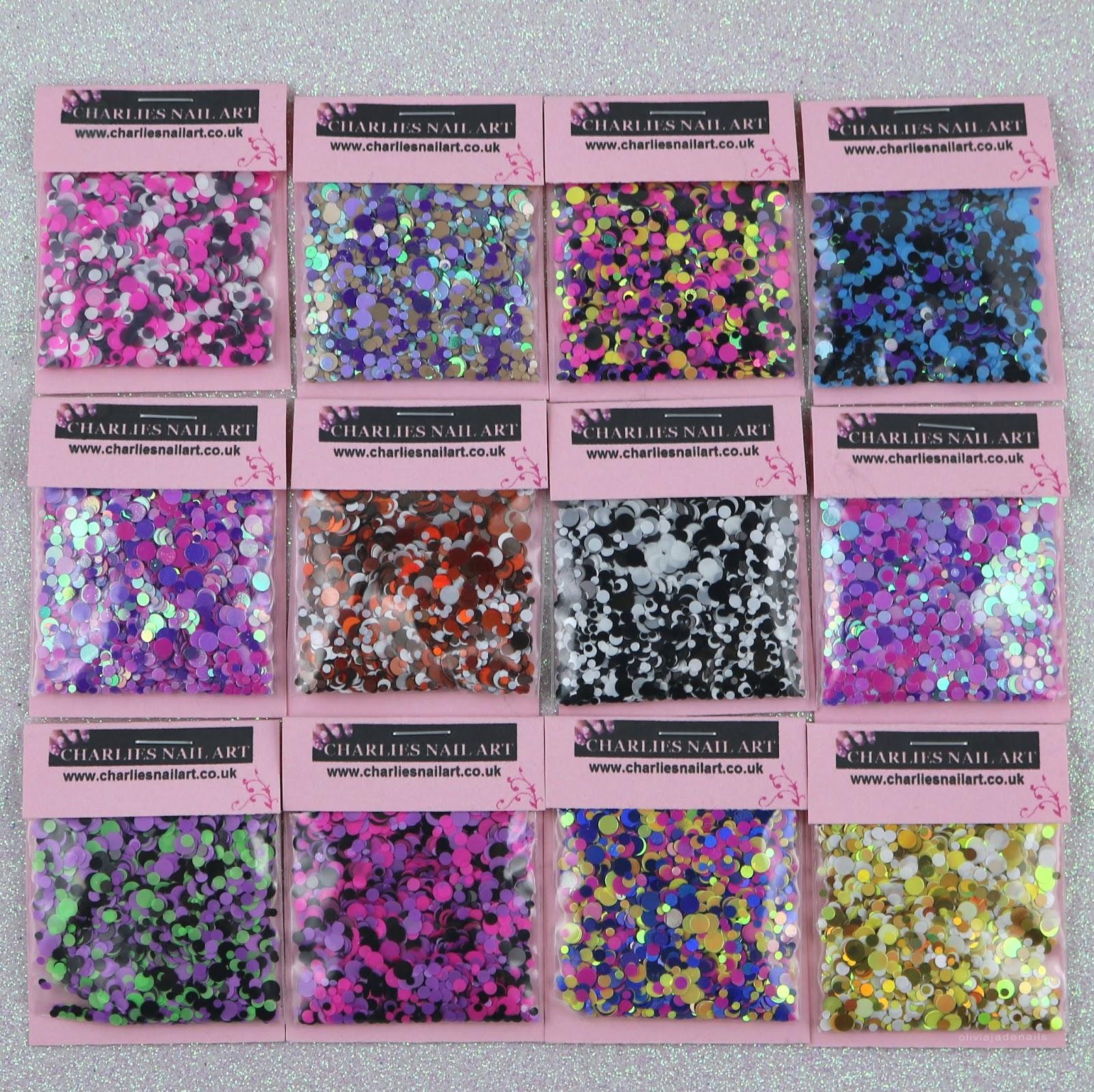 Olivia Jade Nails Charlies Nail Art Supplies Glitter Dots