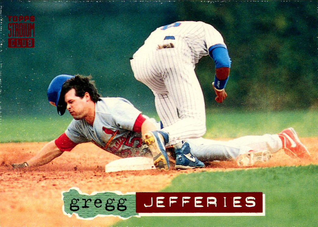 Once A Cub 1994 Topps Stadium Club 109 Gregg Jefferies