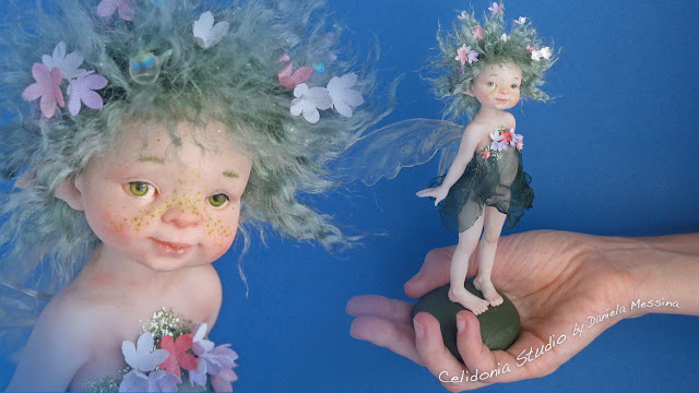 Hope Fairy - Polyimer Clay ooak doll sculpture