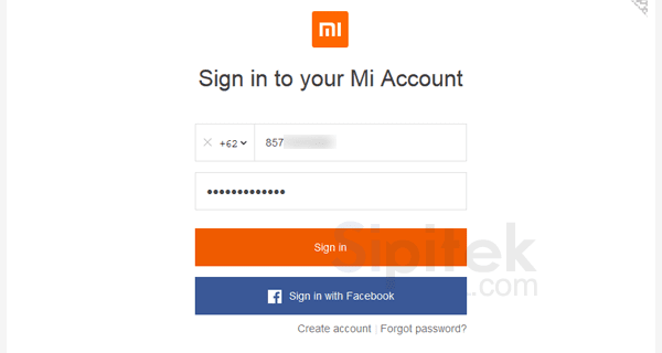 login mi account
