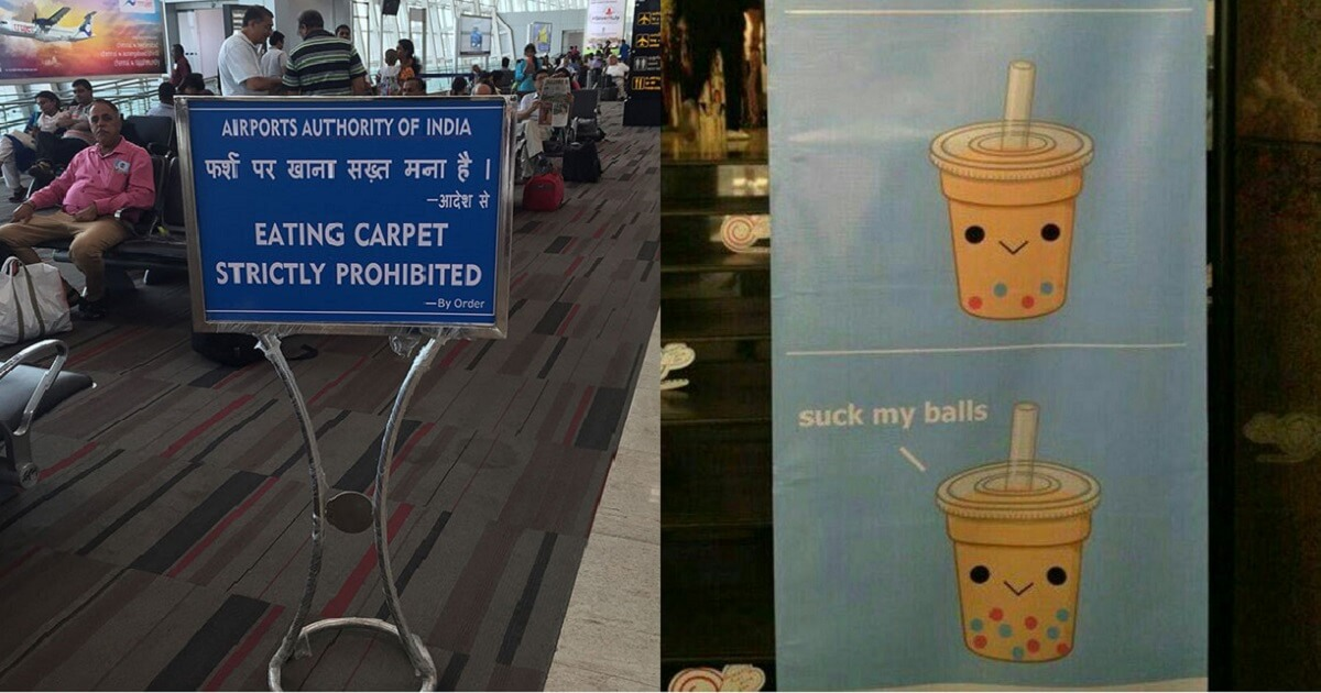 30 Hilarious Pictures Of Translations Gone Wrong