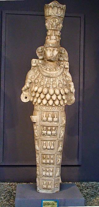 Η Εφέσια Άρτεμις βρίσκεται στο μουσείο της Εφέσου.