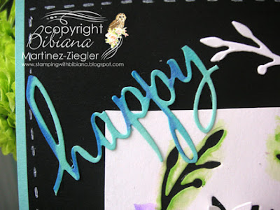dies as stencils color with watercolors black card detail word