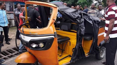 Image result for Keke driver and policeman engage in scuffle over an accident in Akwa Ibom