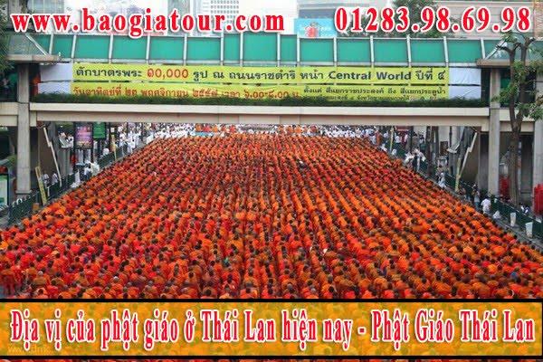 Địa vị của phật giáo ở Thái Lan hiện nay - Phật Giáo Thái Lan