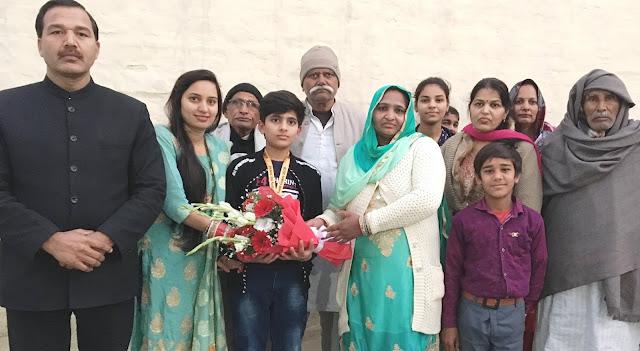 Kadate champion Kishore Gaur's welcome from Vadakhali Panchayat in his Nanihal