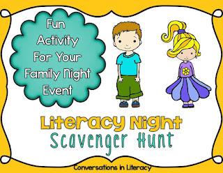 Family Literacy Night Scavenger Hunt