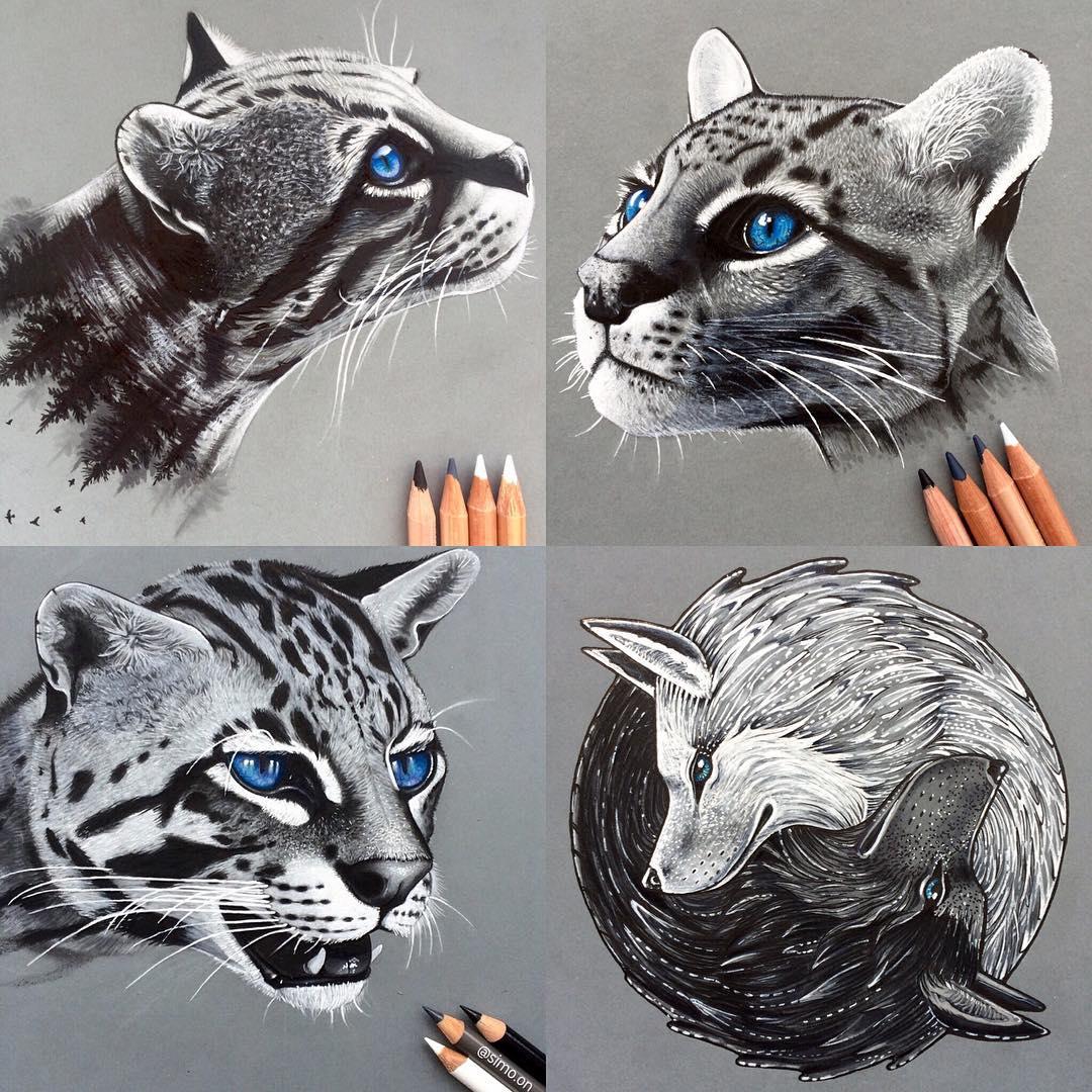 04-Ocelot-Simon-Balzat-Colored-Pencils-make-Beautiful-Drawings-www-designstack-co