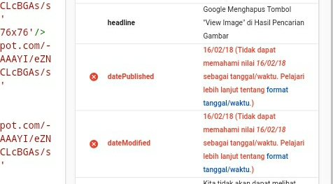 Cara Mengatasi Masalah DatePublished DateModified Struktur Data Template Blog Platform Blogger