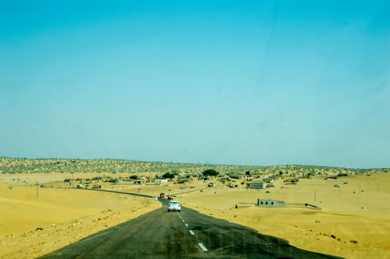 Beautiful desert and Roads on the way to Tanot Mata Temple