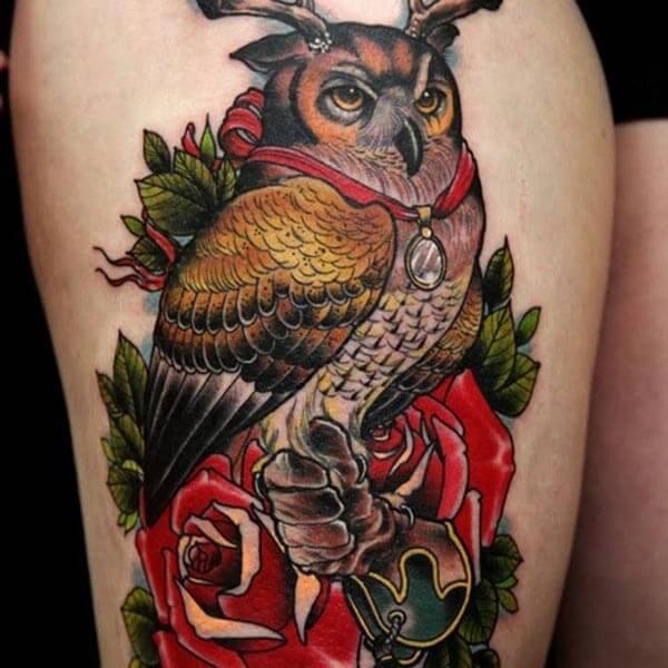 baykuş asaleti dövme