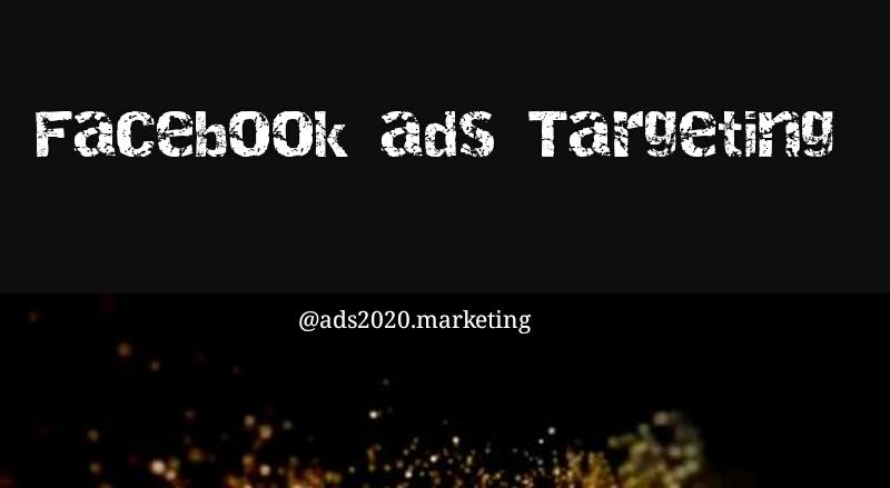 Social media marketing - Facebook ads targeting