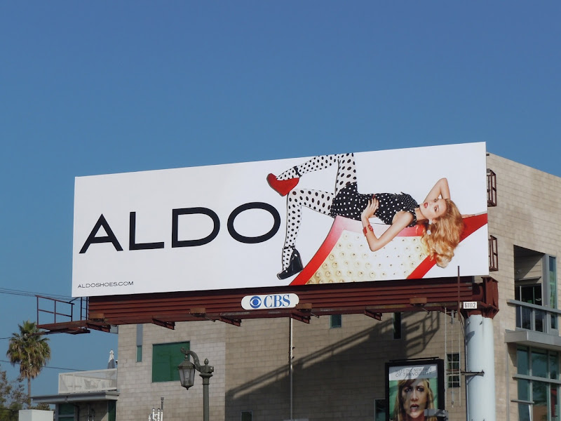 Aldo Shoes polka dot billboard