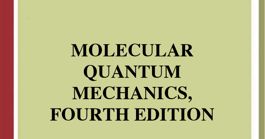 Molecular Quantum Mechanics Atkins Pdf