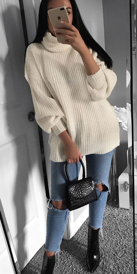 27+ Simple Winter Outfits To Make Getting Dressed Easy. winter clothes style winter day outfits winter fashion inspiration winter clothes style winter day outfits winter fashion ideas #casual #casualstyle #casualoutfits #dresses
