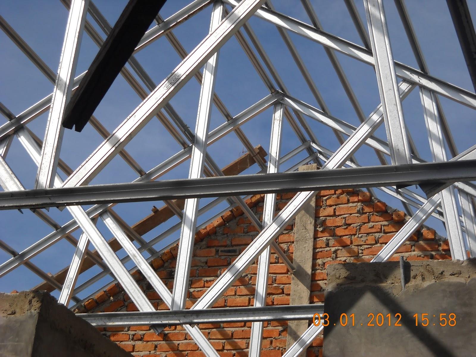 rangka baja ringan atap miring cara pasang galvalum - kencana truss ...