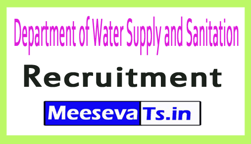 Department of Water Supply and Sanitation DWSS Recruitment