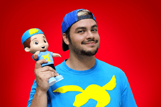 Boneco Articulado - Luccas Neto youtuber Ri Happy