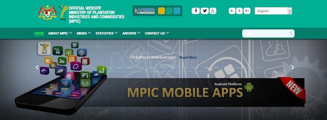 Rasmi - Jawatan Kosong (MPIC) Kementerian Perusahaan Perladangan dan Komoditi Terkini 2019