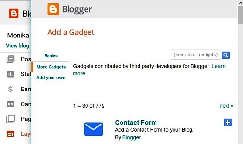 How to Add Contact Us Form Page in Hindi Blogger