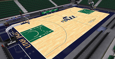 NBA 2K14 Jazz HD Court Mod