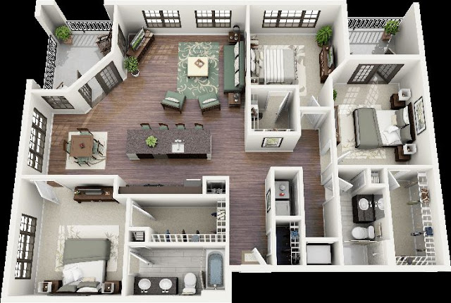 house-floor-plan-design-ideas-with-bedroom-suites-and-gardening-ideas