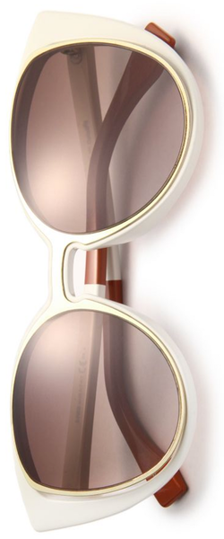 Fendi Cat's-Eye 51MM Sunglasses White