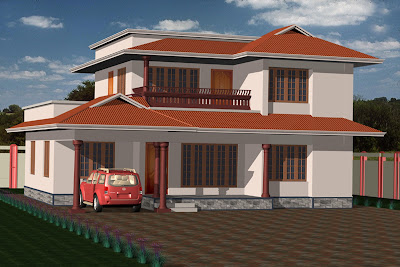 House Design On Double Story House Elevation Kerala Home Design